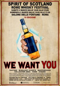 locandina Spirit of Scotland Rome Whisky Festival 2017 1